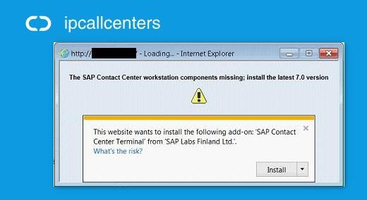 SAP Contact Center workstation components missing error